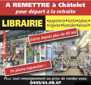 Librairie à remettre à CHATELET