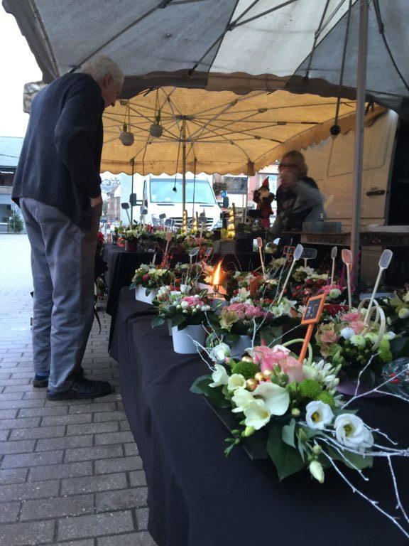 commerce de fleurs sur marchés