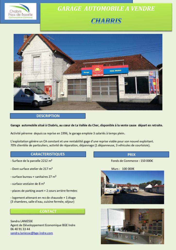 Garage automobile à vendre dans le Cher, France