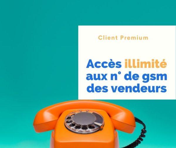 Obtenir les n° de GSM de Tous les Vendeurs