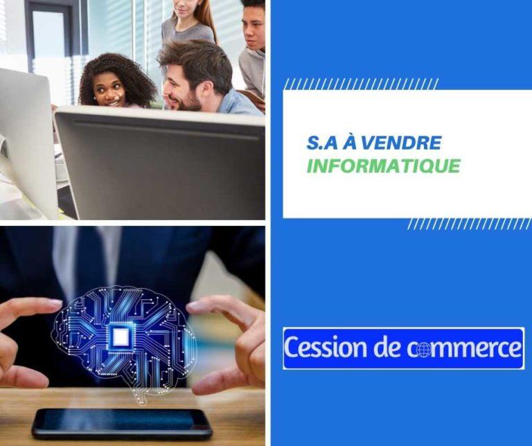 société informatique à vendre